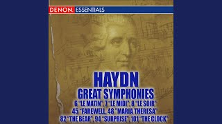 "Haydn Symphony No. 45 in F-Sharp Minor ""Farewell"": IV. Finale: Presto - Adagio"