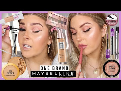 FULL FACE of ONE BRAND ? drugstore favs - MAYBELLINE