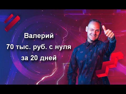Валерий, 70 тыс. руб. с нуля за 20 дней в нише «Навесы, Нижний Новгород».