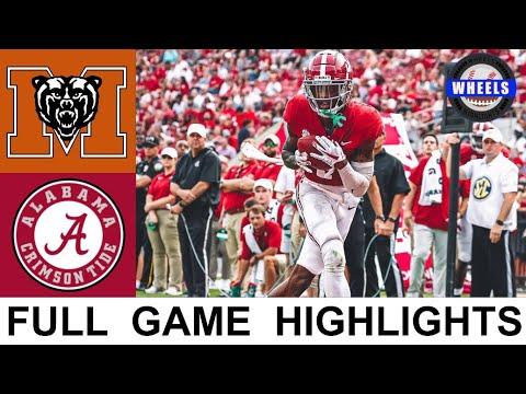 #1 Alabama vs Mercer Highlights   College Football Week 2   2021 College Football Highlights
