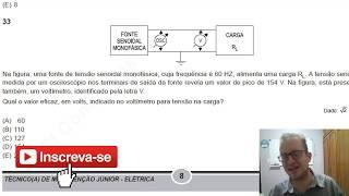 Como Calcular Tensão de Pico e Eficaz ? Concurso Público Petrobras