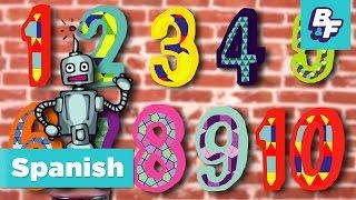 Numbers Song in Spanish. Cancion de los Numeros de BASHO & FRIENDS