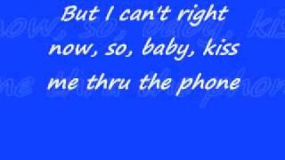 Kiss me through the phone Lyrics 0001