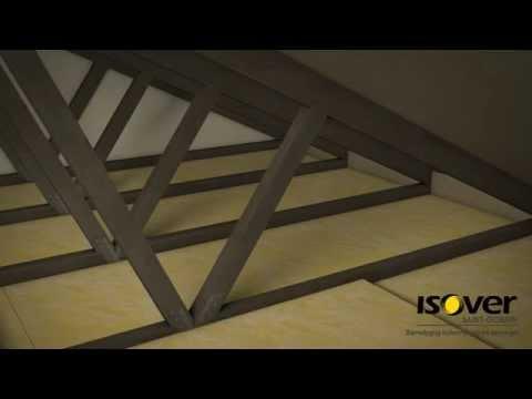 Efterisolering af loft med ISOVER Formstykker og Ruller