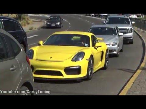 x3 Porsche Cayman GT4 - Accelerations