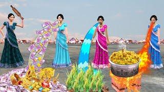 घंमंडी सॉस और जादुई तीन बहू Ghamandi Saas Jadui Teen Bahu Comedy Video हिंदी कहानियां Hindi Kahaniya