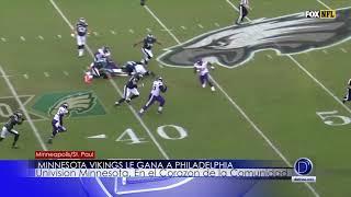 Los Vikings ganan contra Philadelphia
