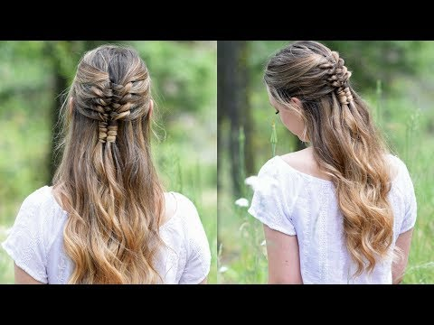 Floating Infinity Braid | Holiday Hairstyles | Cute Girls Hairstyles