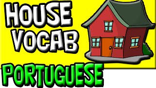 House Vocabulary in Brazilian PORTUGUESE | Portuguese Language | Kid's Portuguese, Lingua Portuguesa