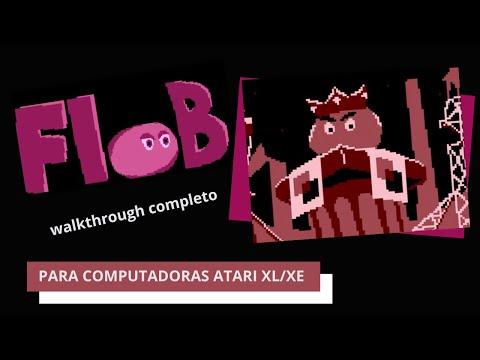 «FloB» para computadoras Atari 8-bits walkthrough completo