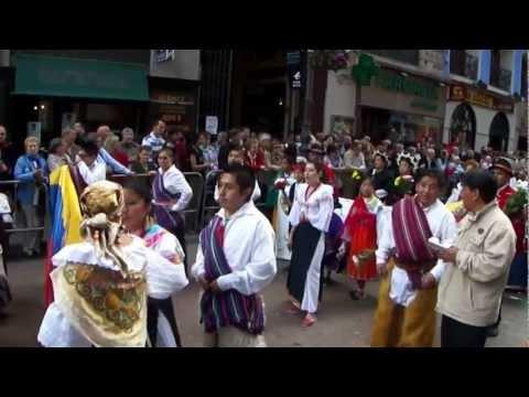 ofrenda de flores fiestas del pilar zaragoza 2012 (ecuador)