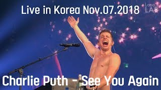 [HD]Charlie Puth - See You Again (Live in Voicenotes Tour @Seoul, Korea 2018)
