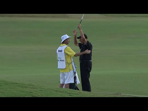 Rocco Mediate?s one-hop eagle from the fairway at Genesis Open