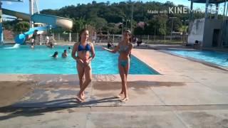 Desafio da piscina com Luisa teen