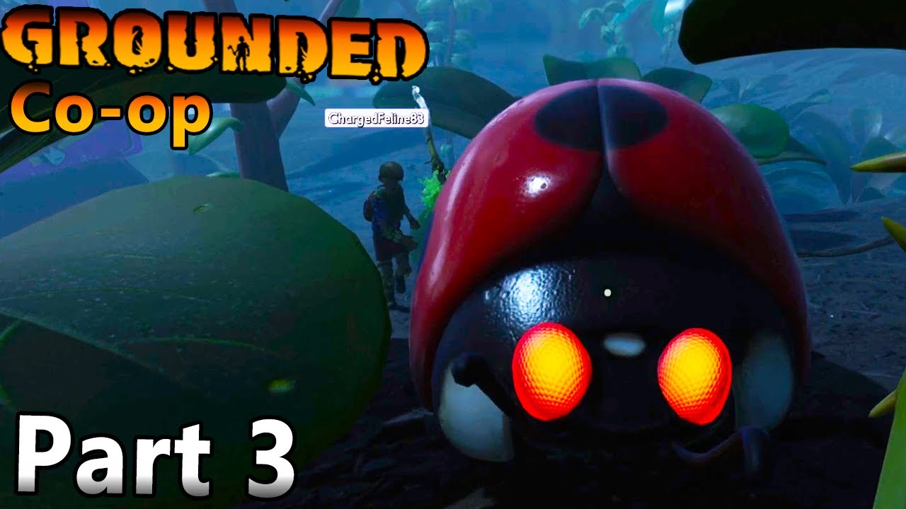 NightShadowXO - Lady Bugs Are Cute But Deadly Watch Out! | Building Oak Tree Camp - Grounded Co op Part 3