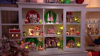 Set of 3 Illuminated Peppermint Trees by Valerie on QVC