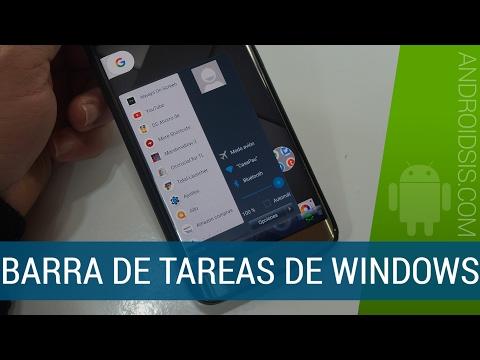 Cómo simular la barra de tareas de Windows en tu Android
