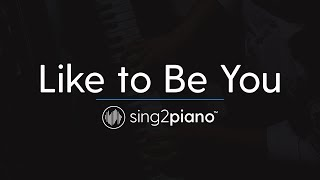 Like to Be You (Piano Karaoke Instrumental) Shawn Mendes & Julia Michaels