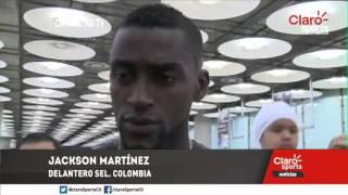 Jackson Martínez explotó a su llegada a España al ser interrogado por su suplencia en la Selección