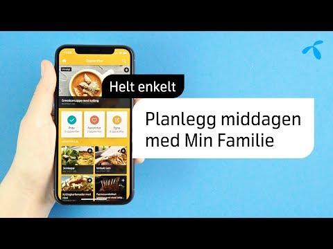 Helt enkelt: Slik planlegger du middagene i Min Familie | Telenor Norge
