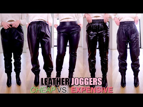 Comparing Leather Joggers | Cheap vs Expensive
