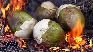 Coconut Chicken - Cooking Chicken In green Coconut In My Village - Healthy Chilli Chicken Recipes