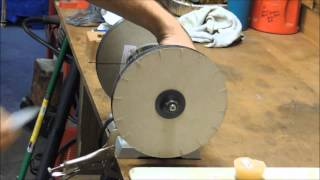 Razor Sharp - Paper wheels knife sharpening.