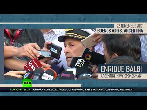Deep sea search: Argentine navy missing submarine with 44 people