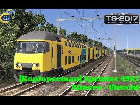 Sprinter 4947 Almere - Utrecht | NS MDDM | Train Simulator 2017