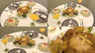 أطيب دجاج محمر ومعمر بحشوة لذيذة في الفرن يحضر في ساعة واحدة روووعة في المذاق