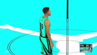 NBA 2K17: Stephen Curry Half Court BUZZER BEATER
