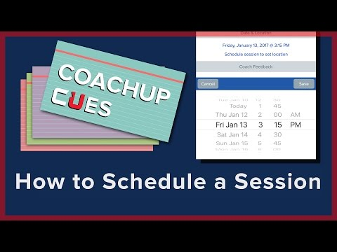 How to Schedule a Session | CoachUp Cues