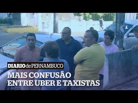 Confus�o entre Uber e taxistas em Casa Forte