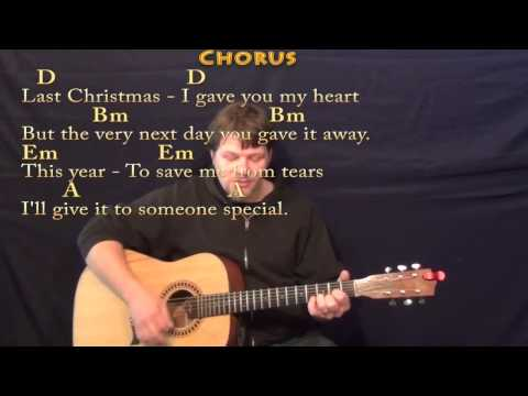 Last Christmas - Strum Guitar Cover Lesson in D with Chords/Lyrics ...