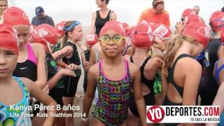 Kenya Pérez la niña triatleta de 8 años en Chicago