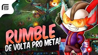 VOLTOU FORTE PRO META - RUMBLE TOP GAMEPLAY - League of Legends - Fiv5 gameplay - [ PT-BR ]