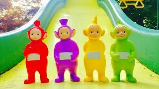 LEARNING NUMBERS On Big Yellow Slide with TELETUBBIES Toys!