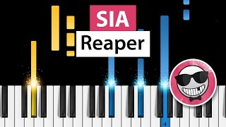 Sia - Reaper - Piano Tutorial - How to Play