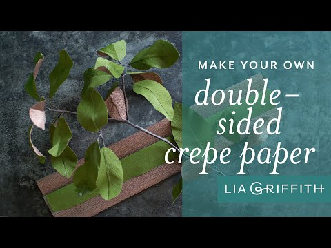 How To Make Double Sided Crepe Paper