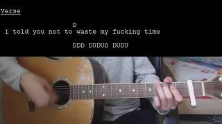 Joji - Test Drive EASY Guitar Tutorial With Chords / Lyrics