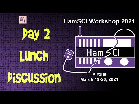 HamSci 2021: Lunch Discussion, Day 2