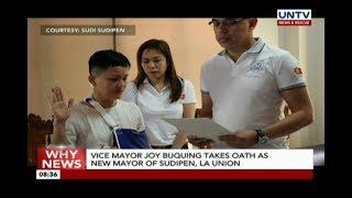 Vice Mayor Joy Buquing takes oath as new mayor of Sudipen, La Union