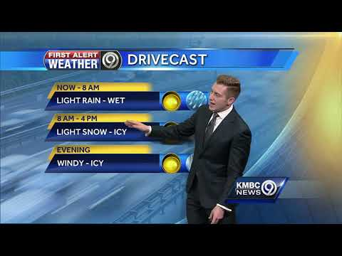 First Alert: Freezing rain, light snow expected as Arctic front moves into KC