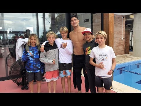 Rip Curl's Euro Groms at the Gabriel Medina Instituto - Maresias, Brazil