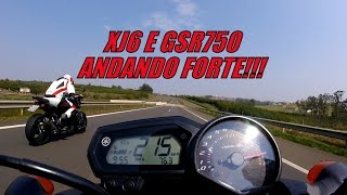 TOP SPEED - XJ6 e GSR 750 ANDANDO FORTE! (HD)