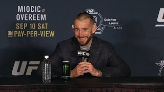 UFC 203: Mickey Gall and CM Punk Octagon Interview width=