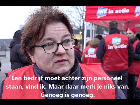 Staking Fabory Tilburg donderdag 23 januari 2020, FNV V01 photo