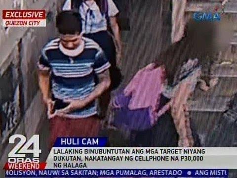24 Oras: Lalaking binubuntutan ang mga target niyang dukutan, nakatangay ng cellphone
