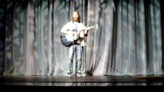 "Jordan at Talent Show Sings ""Wherever You Will Go"""
