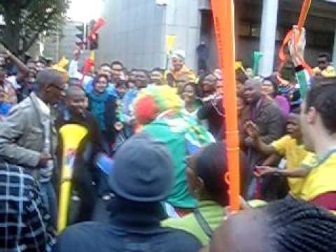 Vuvu zela Celebrations on Long Street, Cape Town